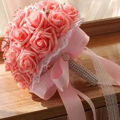 Elegant Round Foam Bridal Bouquets (Sold in a single piece) - Bridal Bouquets