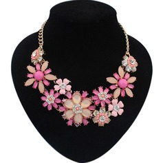 Elegant Alloy/Resin/Rhinestones/Acrylic Ladies' Necklaces