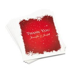 Personalized Snow Design Paper Thank You Cards
