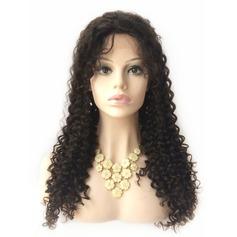 Curly Human Hair Parykar Hel-spets