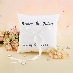 Elegant/Personalized Satin Ring Pillow With Ribbons