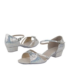 Sparkling Glitter Heels Latin With Buckle Dance Shoes