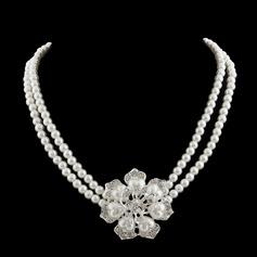 Schöne Perle/Strasssteine Damen Halsketten