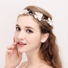 Filles Beau De faux pearl/Fleur en soie Bandeaux