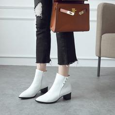 Naisten Keinonahasta Chunky heel Avokkaat Kengät Nilkkurit jossa Muut kengät