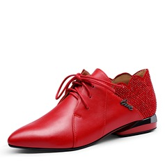 Women's PU Low Heel Flats أحذية