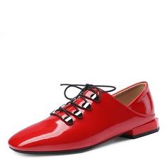 Women's Patent Leather Low Heel Flats أحذية