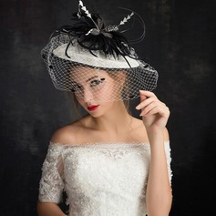 Dames Mode Feather/Netto garen/Kant/Tule/Linnen met Feather Fascinators