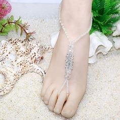 Kristall Glass Fußschmuck Zubehör
