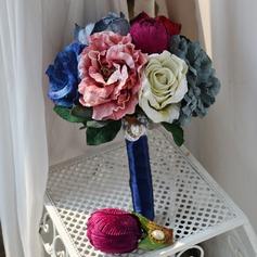Charme Attaché à la main Soie artificielle Bouquets de mariée/Bouquets de demoiselle d'honneur -