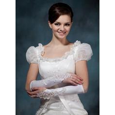 Упругие атласная локоть длина Свадебные перчатки (014020495)