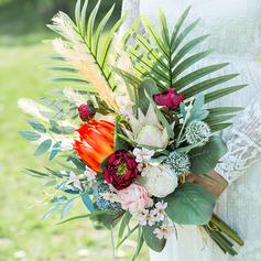 Söt Konstgjorda Blommor Brud Buketter (predávaný v jednom kuse) - Brud Buketter