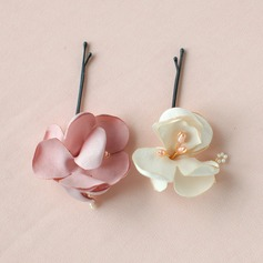 Lovely/Flower Shaped Alloy/Satin Combs & Barrettes (042076355)