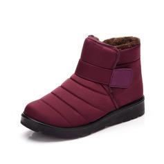 Donna Maschile Tessuto Senza tacco Ballerine Punta chiusa Stivali scarpe