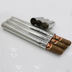 Bruidegom Cadeaus - Modern Roestvrij Staal Sigarenkoker (257185212)