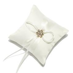 Mini Cojín en Satén con Diamantes de imitación