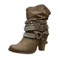 Женщины кожа Устойчивый каблук На каблуках Ботинки с пряжка обувь