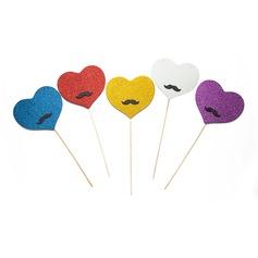 Heart Design Sponge Photo Booth Props (5 pieces)