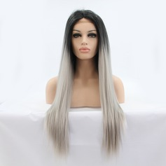 Kina Straight Syntetisk Lace Front Parykar