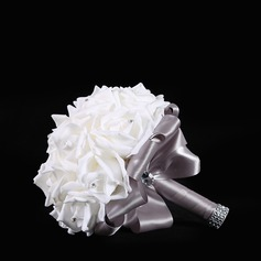 Round Silk Bridal Bouquets/Bridesmaid Bouquets (Sold in a single piece) - (123148769)
