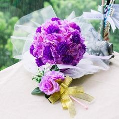 Doce Redondo Cetim Conjuntos de flores