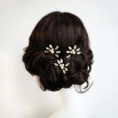 Damen Schöne Legierung Haarnadeln mit Venezianischen Perle/Kristall (3-er Set)