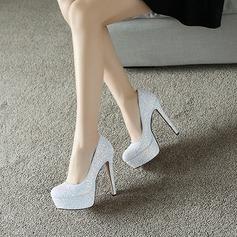 Kvinnor Glittrande Glitter Stilettklack Pumps Plattform skor
