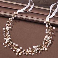 Ladies Elegant Rhinestone/Alloy/Imitation Pearls Headbands With Rhinestone/Venetian Pearl (Sold in single piece)