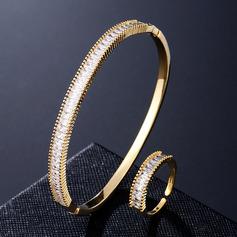 Ladies ' Znakomity Miedź/Cyrkon Zestawy biżuterii