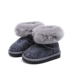 девичий Закрытый мыс Зимние сапоги Настоящая кожа Плоский каблук Ботинки