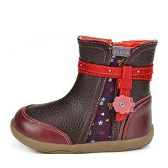 Ragazze Pelle microfibra Heel piatto Punta rotonda Stivali alla caviglia Stivali con Cerniera
