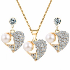 Exquisite Alloy Rhinestones Imitation Pearls With Imitation Pearl Ladies' Jewelry Sets (137122175)