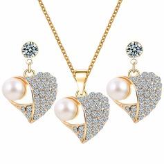 Utsøkt Legering Rhinestones Imitert Perle med Imitert Perle Damene ' Smykker Sett (137122175)