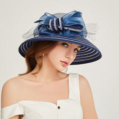 Ladies ' Glamourøse/Classic Papyrus med Bowknot Strand / Sun Hatte/Kentucky Derby Hatte/Tea Party Hats