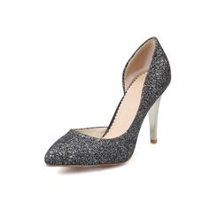 De mujer Brillo Chispeante Tacón stilettos Salón zapatos