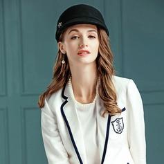 Damer' Utsökt Ull/Strass med Strass Diskett Hat