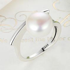 Lysande Fauxen Pärla silver Damer' Mode Ringar
