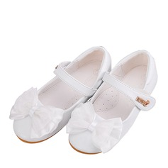 Girl's Round Toe Closed Toe Microfiber Leather Flat Heel Flats Flower Girl Shoes With Bowknot Velcro (207165045)