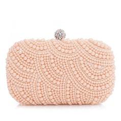 Prächtig Satin/Perle mit Strass Handtaschen