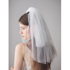Three-tier Shoulder Veils With Rhinestones