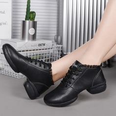 De mujer Cuero Encaje Zapatillas Estilo Moderno Jazz Zapatillas Zapatos de danza