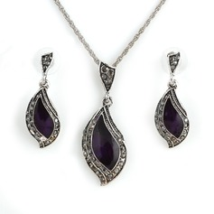 Nice Alloy/Sterling Silver With Crystal Women's Jewelry Sets