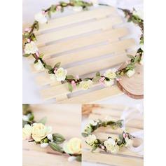 Kunstseide/Papier mit Band Blumen-Stirnband