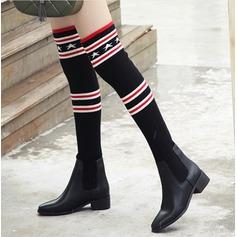 Naisten PU Chunky heel Kengät Yli saappaat jossa Split yhteinen kengät