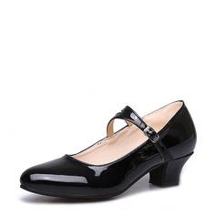 Vrouwen Kunstleer Dans Sneakers Character Shoes met Gesp Dansschoenen