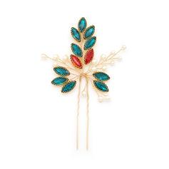 Damer Snygg Legering Hårnålar med Strass/Venetianska Pärla (Säljs i ett enda stycke)