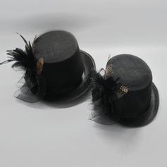 Pareja ' Artístico Batista/poliéster con Pluma Bombín / cloché Sombrero/Derby Kentucky Sombreros