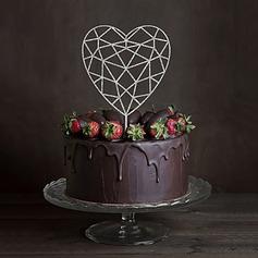 Coeur Acrylique Décoration pour gâteaux