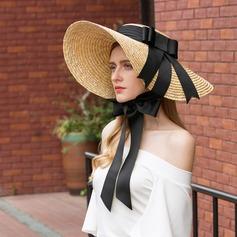 Señoras' Especial/Elegante Ratán paja Sombrero de paja/Sombreros Playa / Sol/Derby Kentucky Sombreros