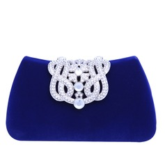 Fashional Crystal/ Rhinestone/Flannelette Material Clutches/Fashion Handbags